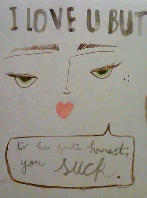 I Love U But… by wings for lashes on Flickr.