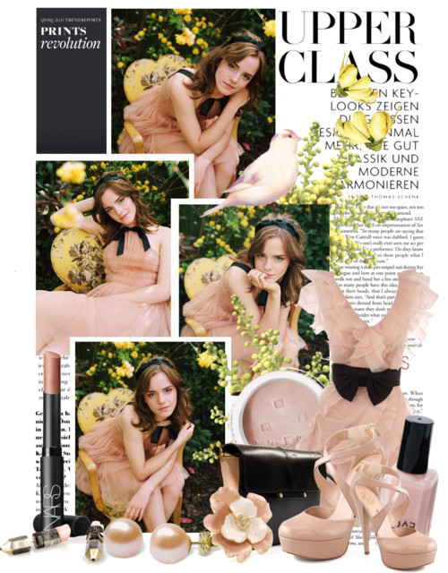 Emma Watson by queenrachietemplateaddict featuring high heel pumps