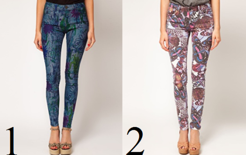 I think that patterned pants are the must to have in your wardrobe this season. It is a really simple piece that you guys can wear day or night. It is so fashionnable. Here are two patterned pants that you folks can find on Asos, in plus those pieces are very affordable. And one last thing, my apologises for my English mistakes, you know that French are pretty bad in English sooooo…