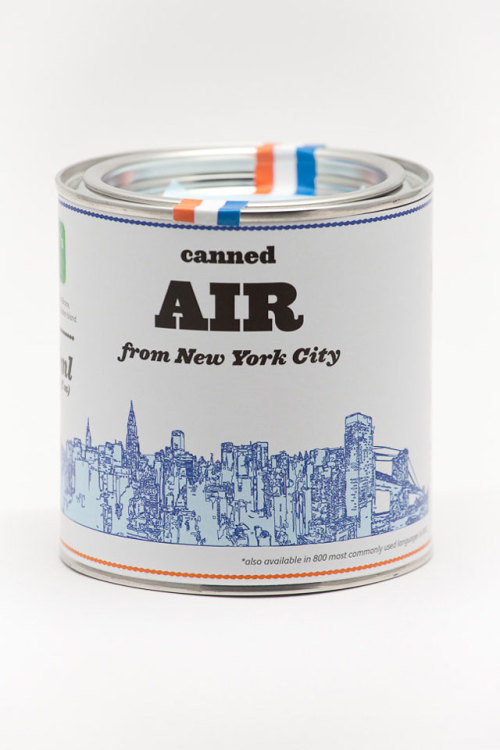 laughingsquid:  Canned Air, Cans of 100% Organic Air From Cities Worldwide