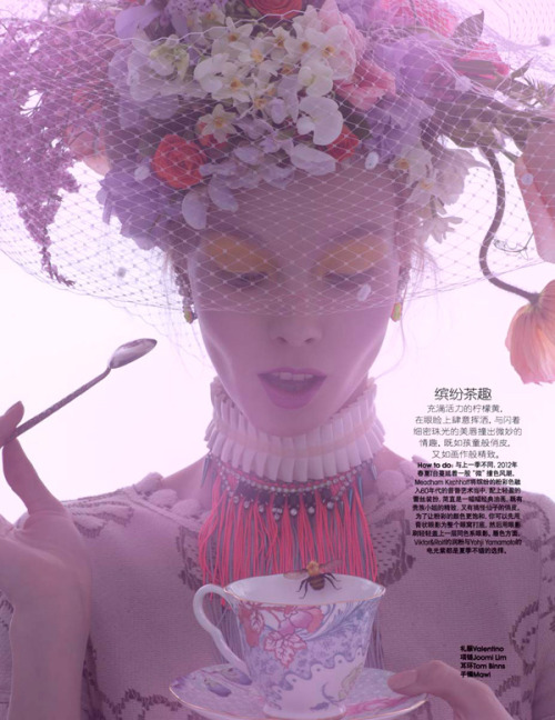 spinningbirdkick:  Amber Gray / Marie Claire China June 2012: