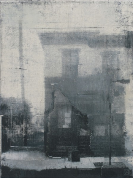 "cheatingdeath:  Daniel C. JacobUntitled (e.k. home #2), 2010Mixed media on panel, 16"" x 12"""