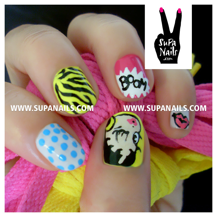 Betty Boop Pop Art #nails #nailart #betty #boop #pop #art #supanails (Wurde mit Instagram aufgenommen)
