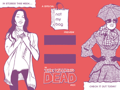 There's a special Not My Bag sneak peek in this week's Walking Dead! Woo!
