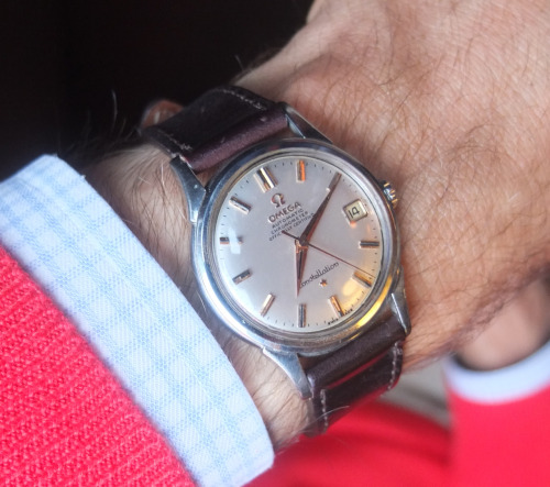putthison:  abitofcolor:  Omega Constellation   If you're looking for a beautiful, prestigious watch at a reasonable price, there's little reason to look past the mid-century Omegas. The Constellation and Seamaster models from the 50s and 60s are beautiful, elegant, carry a well-regarded brand name and frequently sell for as little as $300-500. Try searching the buy and sell areas of WatchUSeek or TimeZone, the fora for watch nerds, or take a chance on eBay. You can also buy from a trusted local dealer, though there's likely to be a 30-50% markup over internet prices.  The end result? For less than the price of a lot of fashion brands' quartz watches from the deparment store, you can have a beautiful, classic timepiece from one of the best names in watches.  My grandfather had this very watch. And then he died and now I have it. It's in my desk drawer along with a Petco discount card and some Christmas stamps.  It was broken so I had it fixed. If you've never gone to a shop to get a watch repaired, I highly recommend it. It made me feel better about the years I've wasted on the internet. Made me feel like a man with a history, if only for a couple hours.  (Look at how sharp those hands are. It's like you know exactly what time it is.)  I wore it for a while and broke it again. I think because I wound it too much? Because I was worried it would die? Like a Tamagotchi? So I constantly wound it? And probably overcranked its delicate innards?  Anyway this post reminded me I should head back to the watch shop. Because to see this thing ticking away again … it would, it would maybe be important right now.