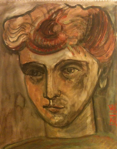 girl (time of Augustus about 20 B.C.), watercolor 37x46cm, August 2012 @_blacha_ on Flickr.