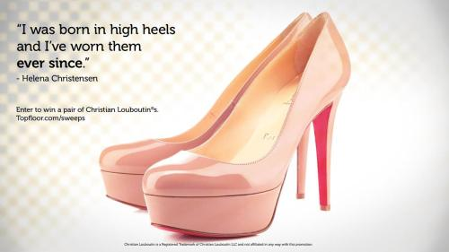 Topfloor is giving away four pairs of Christian Louboutins. I just entered to win and you should too.