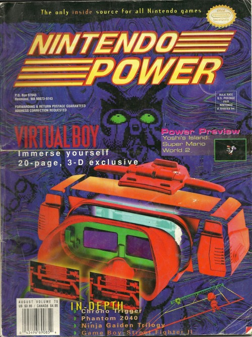 Nintendo Power magazine Virtual Boy cover.