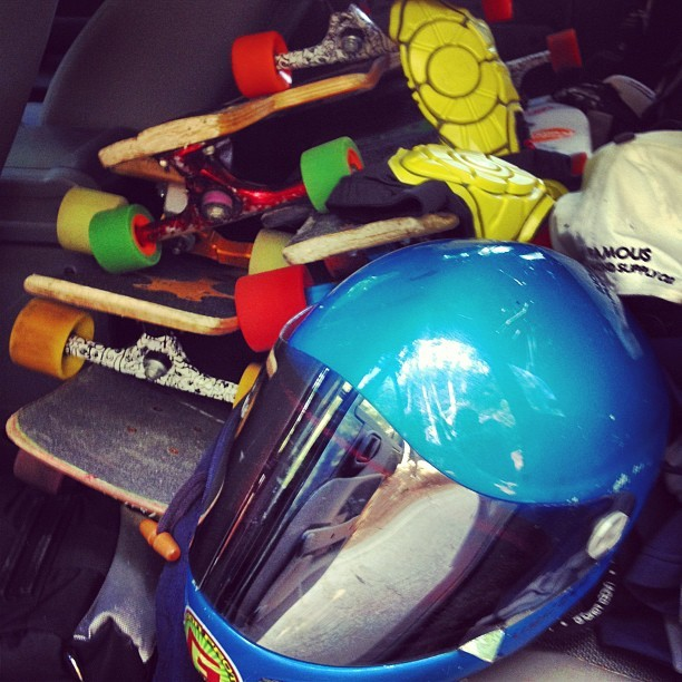 BackSeat Quiver. @g-form #skateboarding #skate #longboarding #vectorm4 #gform (Taken with Instagram at Dairy Joy)
