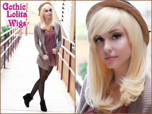 ♥ Daily Doll Collection - Golden Blonde Mix ♥Alexa wears our re-vamped Daily Doll Collection's newest color - a beautiful mix of blondes to create our Golden Blonde Mix! It is designed to be worn casually or with lolita, and is easy to style and maintain! This collection comes with longer bangs that can be side-swept or trimmed, giving it many different styles!Find it Here: www.GothicLolitaWigs.com/daily-doll-collection/Model: Alexa Poletti  Have an idea for a wig, or a color we don't already have? Drop it in our ask box! We're always happy to hear from our customers, and will add it to a list to send to our design team.