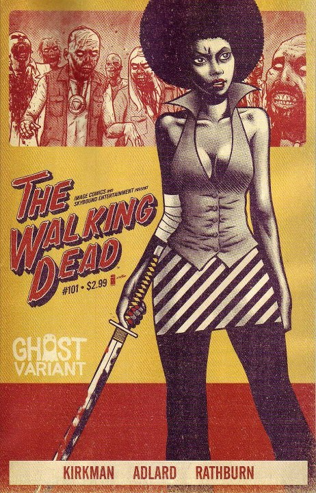 Wow! Pretty bad-ass Ghost Variant cover for Walking Dead #101