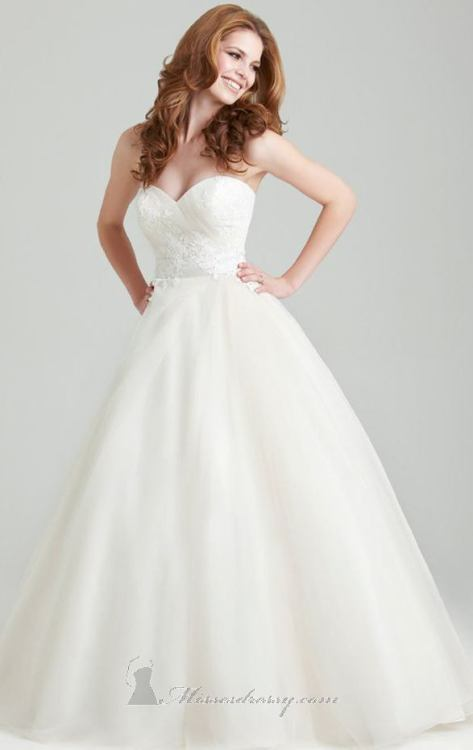 Allure 2566 wedding dress available at MissesDressy