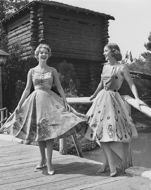 mintjuleplove:  Disneyland Frontier Fashion Show 1950s by hmdavid on Flickr.