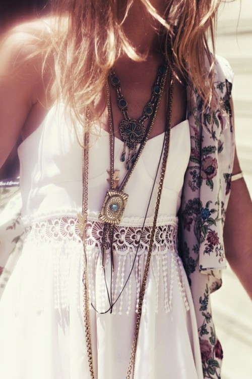 necklaced + white
