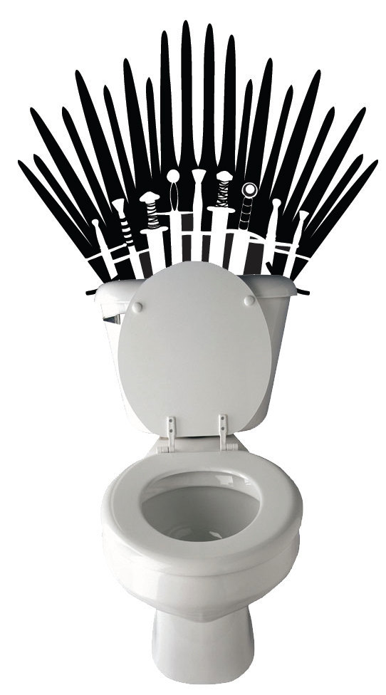 "I Love You Etsy…. Game of Thrones Toilet Decal If only my wife cared less about what our ""guest"" thought of us, I would replace all the decorative soaps with this thing of beauty… PUT ON ALL THE THRONES! Etsy"