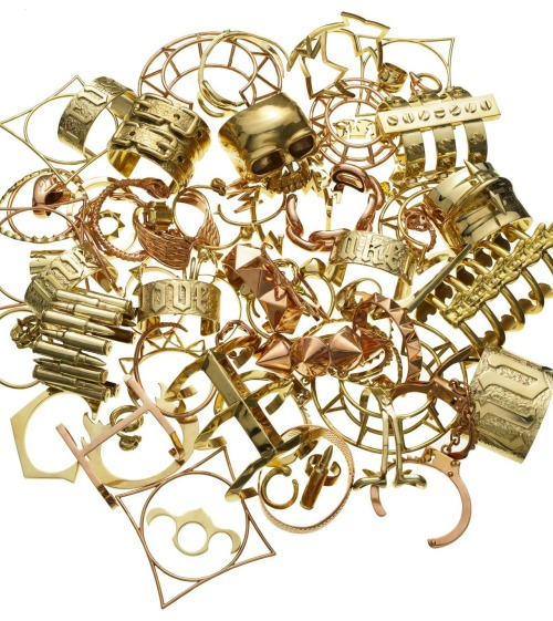 mariaduenasjacobs:  Gold Rush! Jennifer Fisher bracelets and cuffs