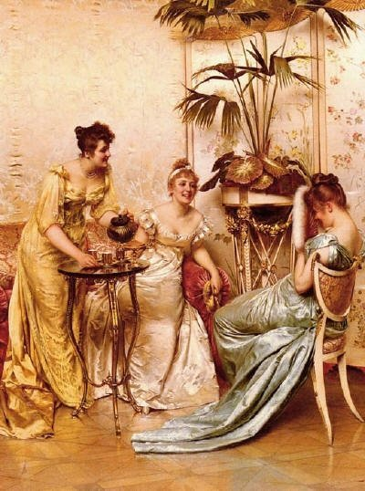 monacomonoikos:  The Tea Party Charles Joseph Frederick Soulacroix