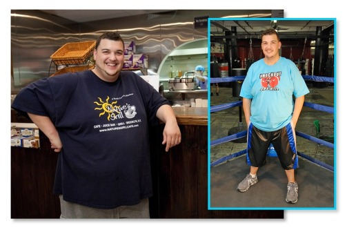 "AMAZING TRANSFORMATION! 85lbs in three months. ""Before"" and ""After"" of KO Obesity founder, Dimitrios Verteouris. And he's not done yet! We challenge YOU to lose this much weight and change your life for the better!"