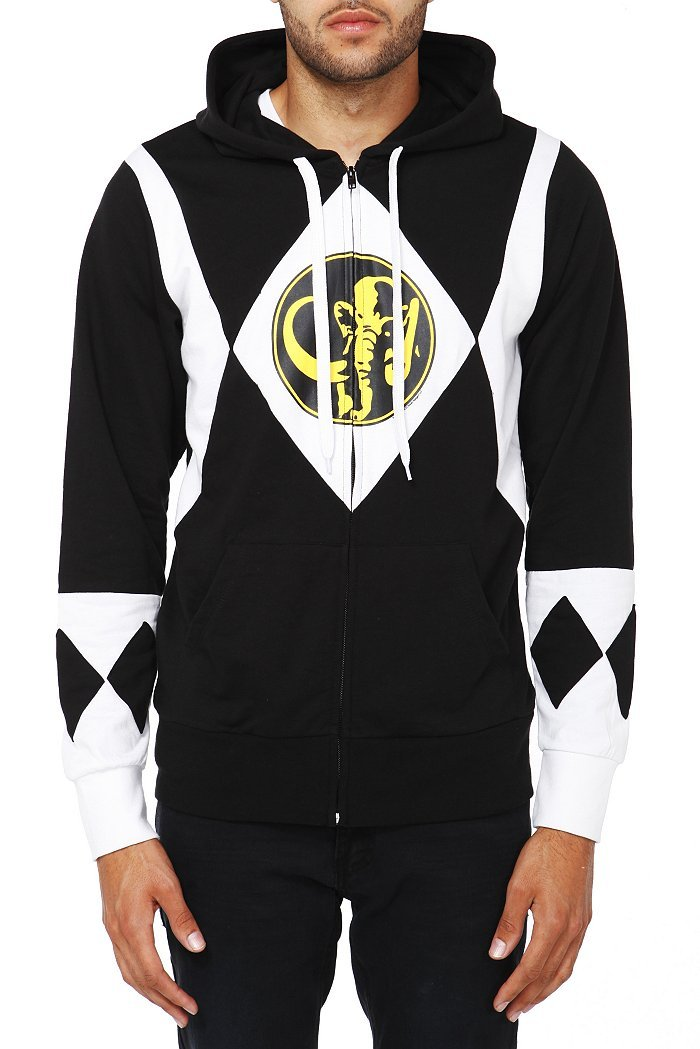 wantering:  Mighty Morphin Power Rangers Black Ranger Zip Hoodie