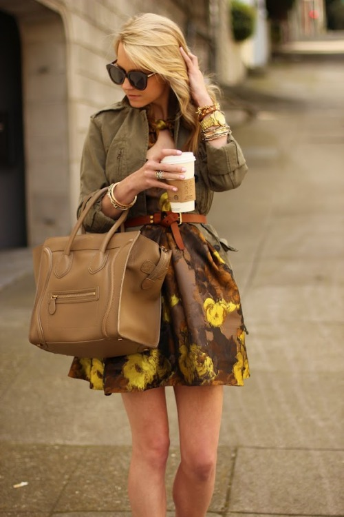 modcloth:  Blair Eadie of Atlantic-Pacific looks lovely in an olive jacket and coordinating dress.  I'm kinda digging this look. It feels LA-esque to me… which is where I'm headed…. after that its off to NYC