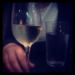 Watered down wine for the girlfriend. Can't handle adult drinks. (Taken with Instagram)