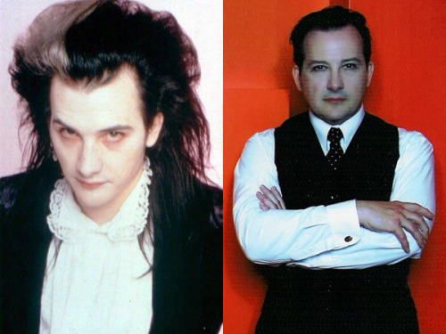 gothiccharmschool:  Dave Vanian, then and now. From FlavorWire.   I hope I look that good at 55.