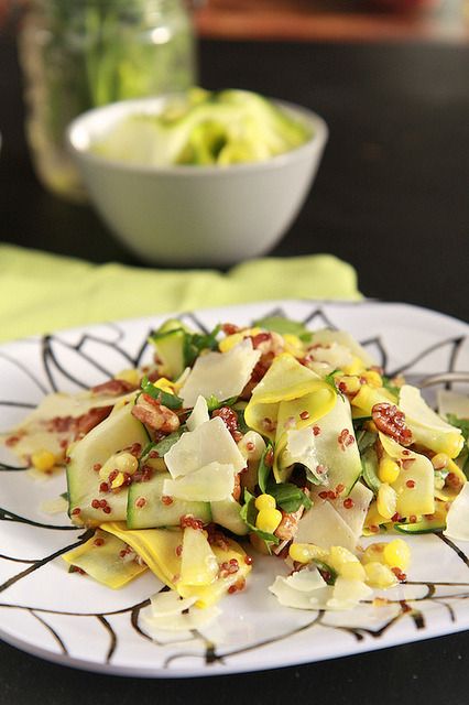 Zucchini and Summer Squash Salad with recipe (link)