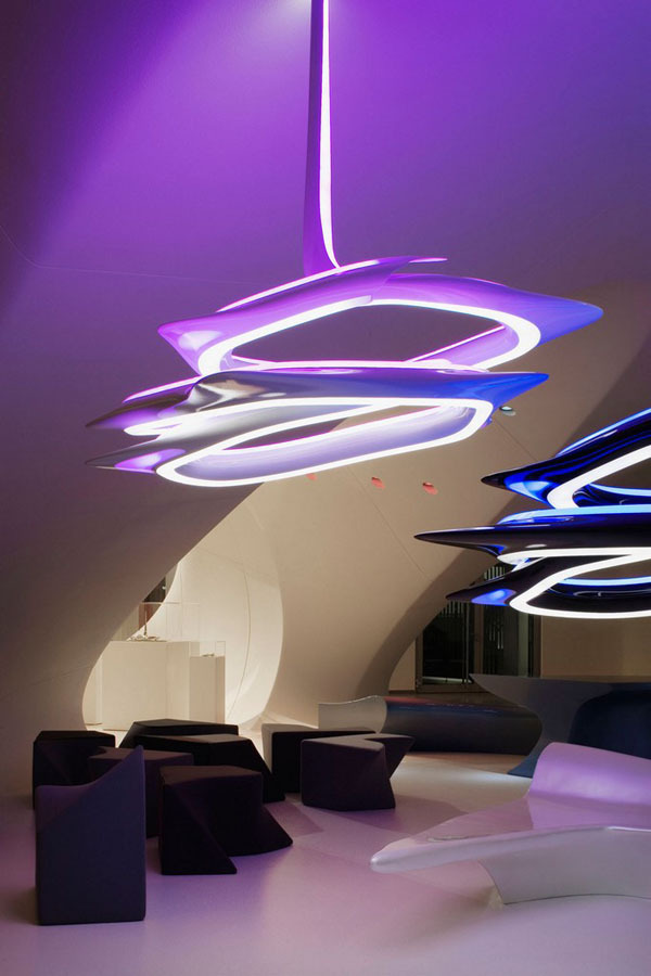 unknownskywalker:  Vortex Chandelier by Zaha Hadid Architects