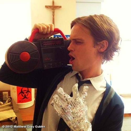 gublernation:  dr. reid moonwalkin in the morgue. View more Matthew Gray Gubler on WhoSay