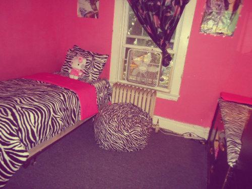 Zebra room on tumblr for Cute zebra bedroom ideas