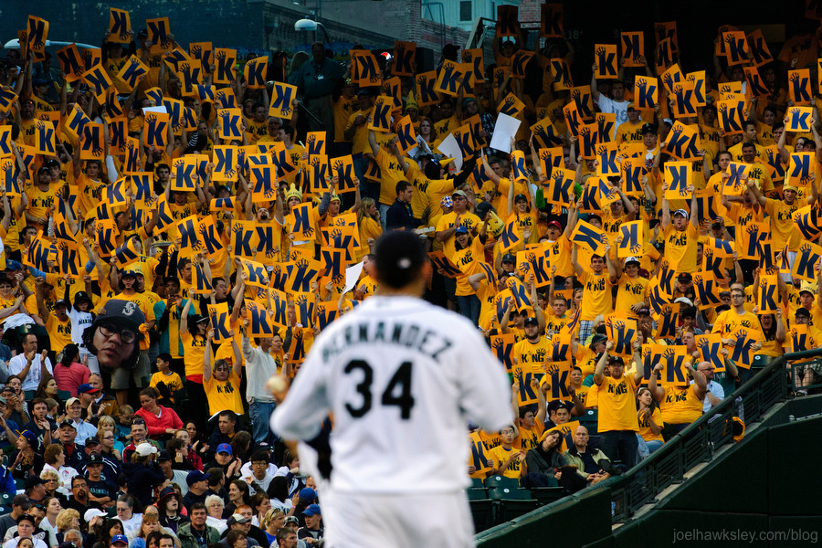 Felix Hernandez just finished pitching the 23rd perfect game ever pitched in major league baseball history at Safeco Field (image credit: Seattle Times/Joel Hawksley)!