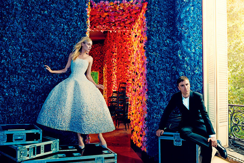 VOGUE US September 2012 Riccardo Tisci (with Rooney Mara), Raf Simons (with Diane Kruger), Sarah Burton, Christopher Bailey, and Stella McCartney (with Karen Elson, Stella Tennant & Claudia Schiffer), Lazaro Hernandez, Jack Mccollough, Kate Mulleavy, Laura Mulleavy, David Neville, and Marcus Wainwright, Peter Copping and Erdem Moralioglu (with Emilia Clarke & Ruth Wilson), Nicolas Ghesquière (with Kristen Stewart), Olivier Rousteing, Joseph Altuzarra, and Anthony Vaccarello (with Chanel Iman, Kate Upton & Candice Swanepoel), Peter Dundas (with Caroline Trentini); all photographed by Norman Jean Roy.