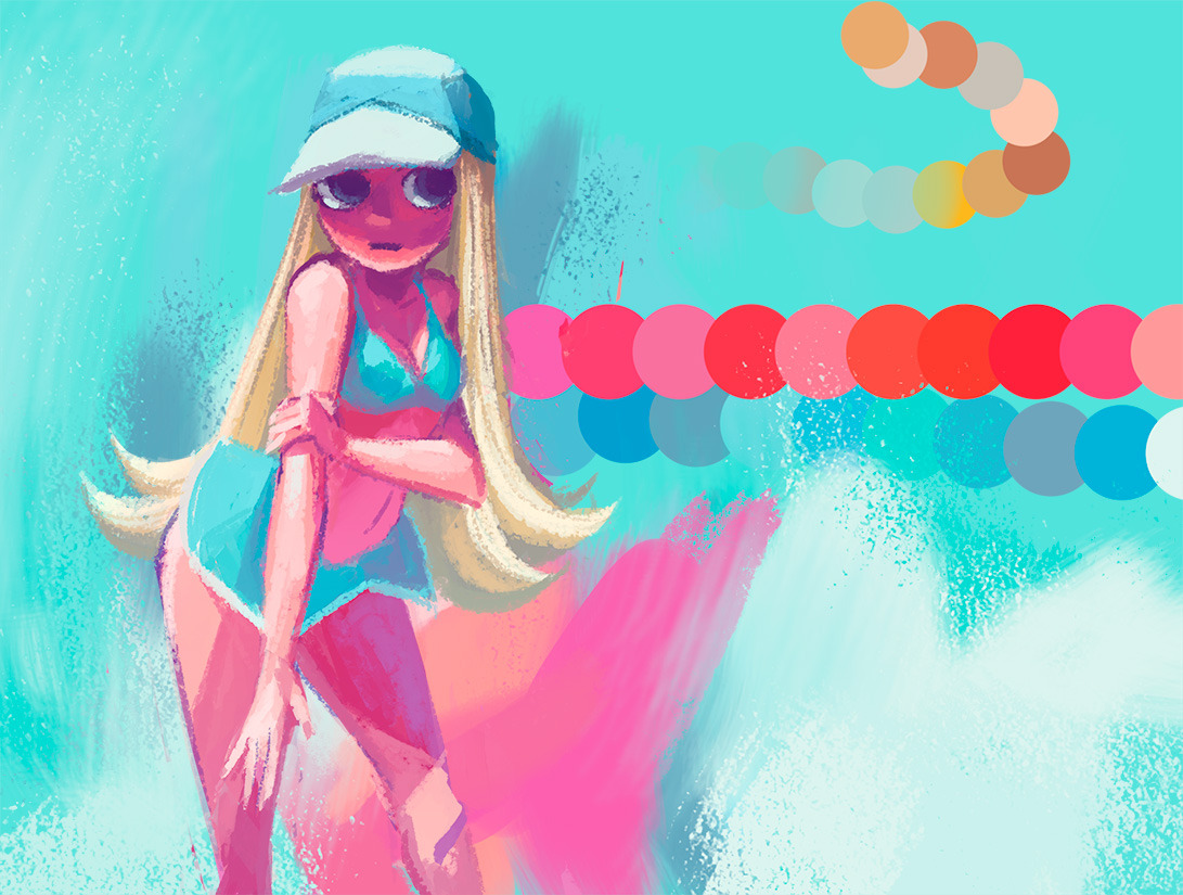 Splash! Took a bunch of random colours and then made this mess