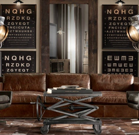 justthedesign: Leather Sofa/ Signage