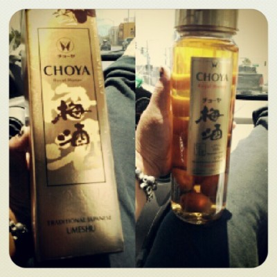 Ume sake from japan… Thanks kyle :D (Taken with Instagram)