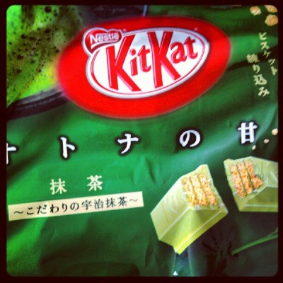 :) :') :) you alreaddy know! #kitkat #greentea #japanese #candy #delicious #hellyeah  (Taken with Instagram)