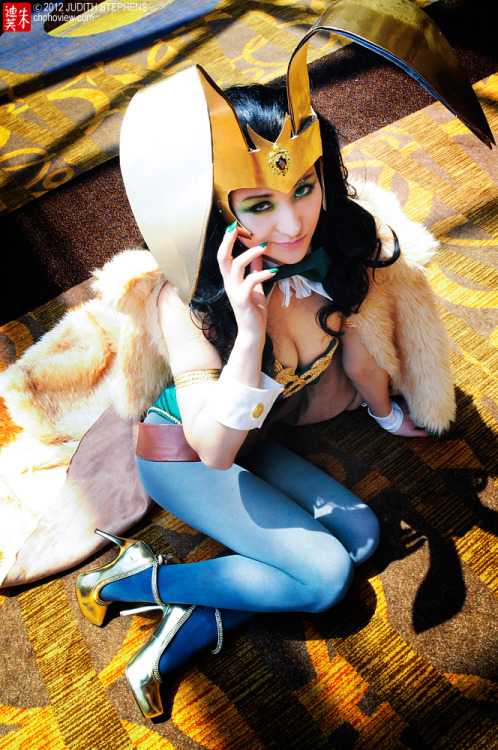comicbookcosplay:  Mostflogged as Bunny Girl Loki Photography by TheDreamerWorld