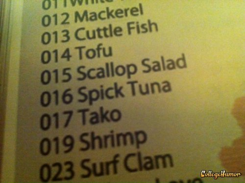 Spick Tuna Hey, sushi, could you tone down the slurs?