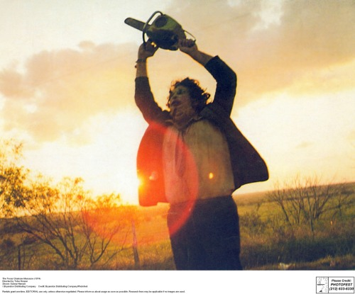 "sfmoma:  The Texas Chainsaw Massacre will be screened at SFMOMA tomorrow night, 7pm. Come see one of the most influential horror films ever on the big screen! Watch the film's trailer here. Image: Tobe Hooper, ""The Texas Chainsaw Massacre,"" 1974"