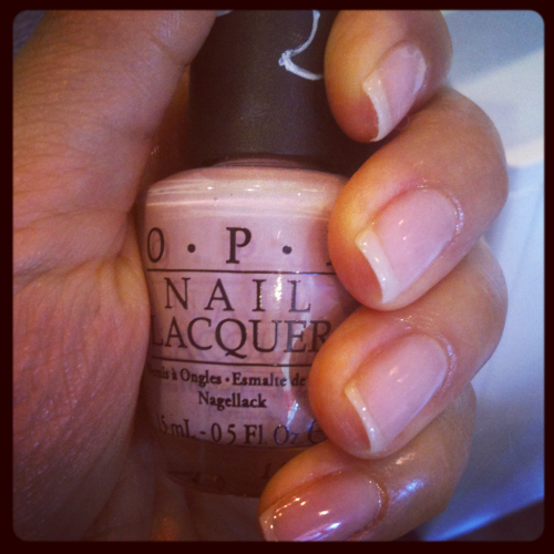 I love a fresh mani/pedi.  Pedi colour is from the new OPI Germany collection: 'My Very First Knockwurst'