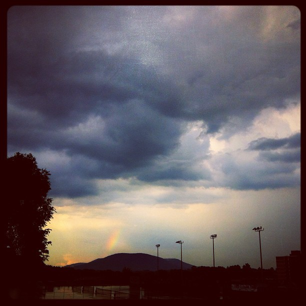 Rainbow Over Mt. Nittany http://instagr.am/p/OXdwipvgPu/