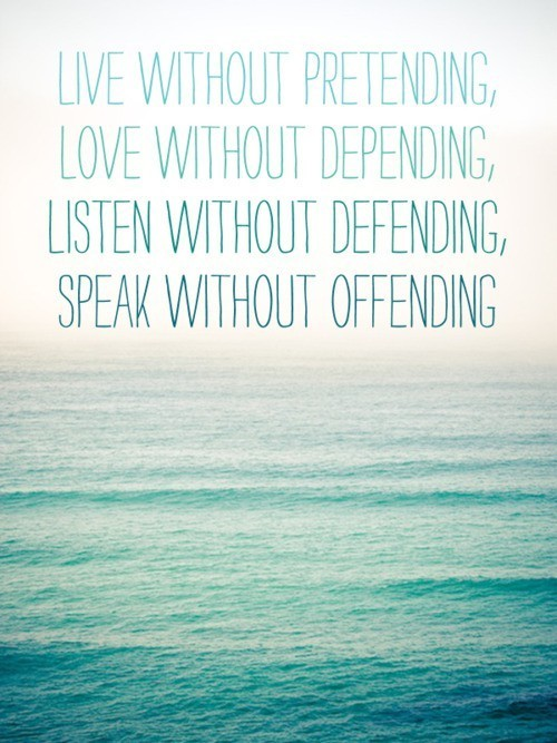 Live. Love. Listen. Speak.