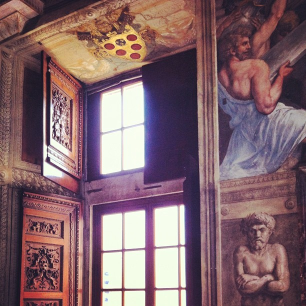 The Raphael room - Cesare Borgia's bedroom!! - the Borgia Apartments - Vatican Museum - iPhone - 2012.
