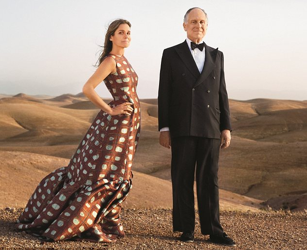 Our cover girl, Aerin Lauder, and her father Ronald in Marrakech. Photographed by Jonathan Becker for Town & Country September 2012