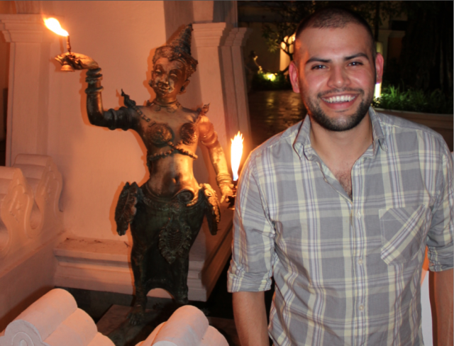 Me and my fire friend in Chiang Mai.