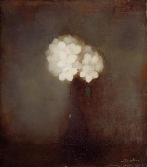 colourthysoul:  Jan Mankes - Vase With Jasmine (1913)