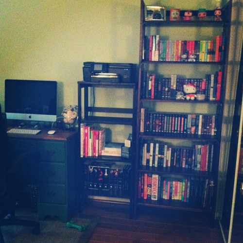Love this! Can't wait until we redo the walls! 😍 #dork #nerd #bookworm  (Taken with Instagram)
