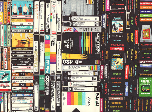 Cassettes, VHS & Ataripermanent marker on paper 22 1/2 x 30 inches hbt12-p0112012