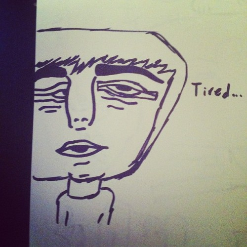 Tired #ellozapplez #ellozworld #doodle #doodles #art #instagram #instagramers #instalove (Taken with Instagram)