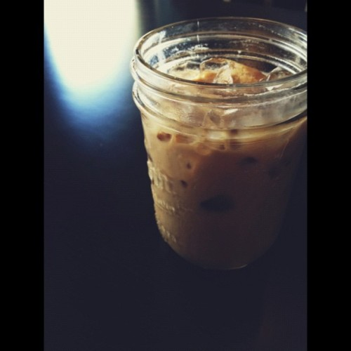 Ready for an iced coffee. #photoadayaug #coffee #thecurlywolf #nevadacity #vscocam (Taken with Instagram at Curly Wolf Cafe)